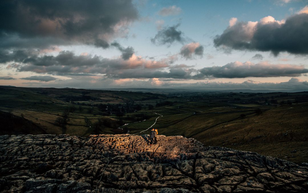 Malham Cove Pre-Wedding Shoot – Amy & Marc