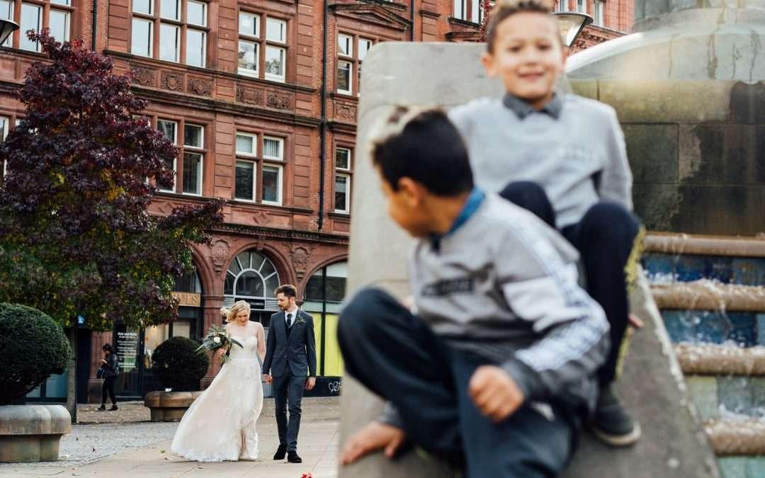 Millennium Gallery, Sheffield Wedding Photography – Amie & Richard